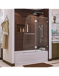 DreamLine Aqua Lux 48 in. Width, Frameless Hinged Tub Door, 5...