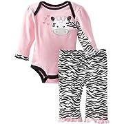 Carter's Watch the Wear Baby-Girls Newborn Zebra Bodysuit Pant Set