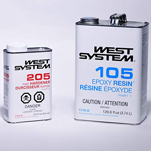 West System 105 Epoxy Resin (KIT Resin GAL + 205B)