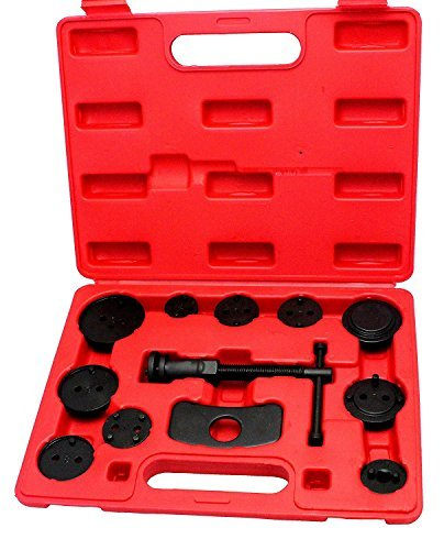 VOKUA 12 Piece Disk Brake Pad Replacement,Master Brake Caliper Tool Set Disc Brake Caliper Wind Back Tool Kit Professional Brake Tool Set Brake Pad Set Metal Master