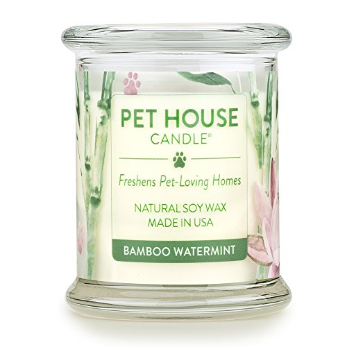 One Fur All - 100% Natural Soy Wax Candle, 20 Fragrances - Pet Odor Eliminator, Up To 60 Hours Burn Time, Non-toxic, Reusable Glass Jar Scented Candles - Pet House -