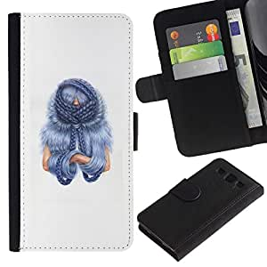 All Phone Most Case / Oferta Especial Cáscara Funda de cuero Monedero Cubierta de proteccion Caso / Wallet Case for Samsung Galaxy S3 III I9300 // Blu Hair