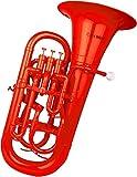 Cool Wind CEU-200 Series 4-Valve Plastic Euphonium Red