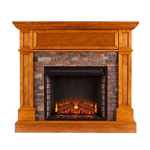 Southern Enterprises AZ5439EF Rosedale Durango Stone Look Electric Fireplace, Sienna ()