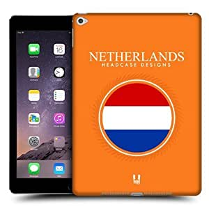 Head Case Designs Flag of Netherlands Patches Protective Snap-on Hard Back Case Cover for Apple iPad Air 2