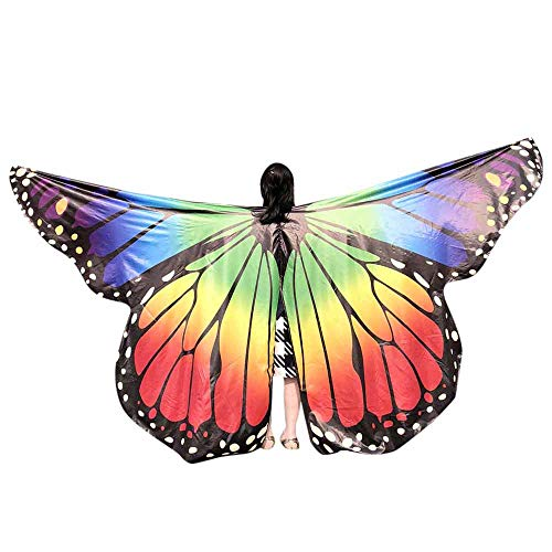 VEFSU Kids Baby Girl Party Belly Dancing Costume Butterfly Wings Dance Accessories No Sticks -