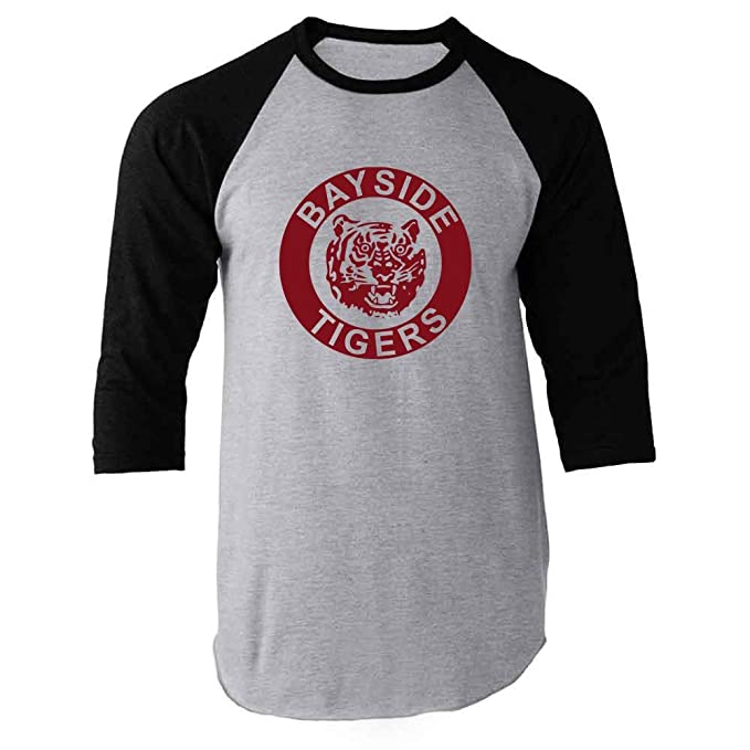 fa9c7c2a5 Bayside High School Tigers 90s Retro Clothes Black S Raglan Baseball Tee  Shirt