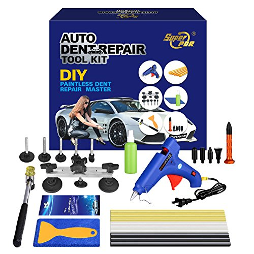 AUTOPDR Pops a Dent Puller Car Body Painless Dent Repair Tools Equipment with PDR Glue Sticks Car Charge Glue Gun for Car Hail Damage Dent Remover Devices
