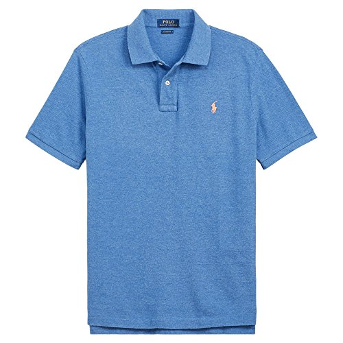 Polo Ralph Lauren Mens Big & Tall Signature Waffle Knit Polo Shirt (3X Tall, Deco Blue Heather) (Signature Shirts Embroidered)