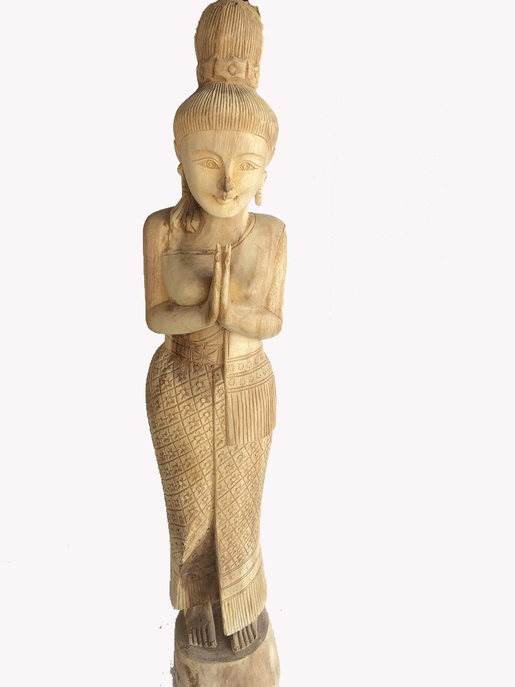 Audomna Shop Statue of Reverence in Thai Dress