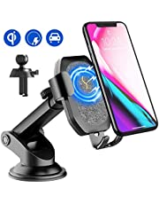SONRU Upgraded Wireless Car Charger, Qi Car Charger Phone Holder, Wireless Fast Charge for iPhone XS/X/8/8 Plus, Galaxy S9/S9+, S8/S8+, S7/S7 Edge, S6/S6 Edge, Note 8/5, etc