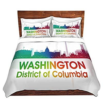 Duvet Cover Brushed Twill Twin, Queen, King SETs DiaNoche Designs By Angelina Vick - City I Washington DC Bedroom and Bedding Ideas