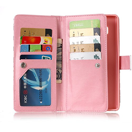 integrated Stand stylus Galaxy for Skin design Case with with inShang Pouch Samsung Pen Rose and Cover Note stand Wallet wallet 8 business 1pc Note8 qF4wn0C