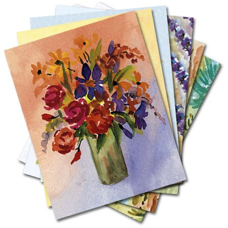 UPC 798925003885, French Watercolors - Box Set of 12 Assorted Greeting Cards and Patterned Envelopes