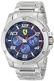 Ferrari Men's 830036 Analog Display Japanese Quartz Silver Watch