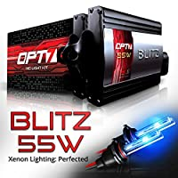 OPT7 BLTZ 55W H7 HID Kit - 3X Brighter - 4X Longer Life - All Bulb Sizes and Colors - 2 Yr Warranty [10000K Deep Blue Xenon Light]