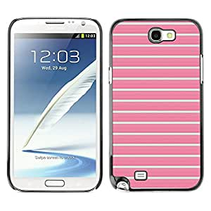 Planetar® ( Lines Summer Teal Pink Pattern Clean ) SAMSUNG Galaxy Note 2 II / N7100 Fundas Cover Cubre Hard Case Cover