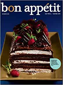 "John Johnson Dodge >> Bon Appetit: Eat Well, Savor Life - December 2009 Magazine (Cover: ""Peppermint Meringue Cake w ..."
