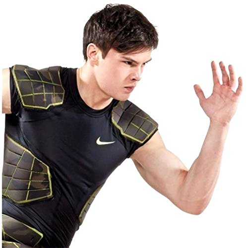 Nike Mens Pro Combat hyperstrong 4 pad compression football top Large (Nike Rib)