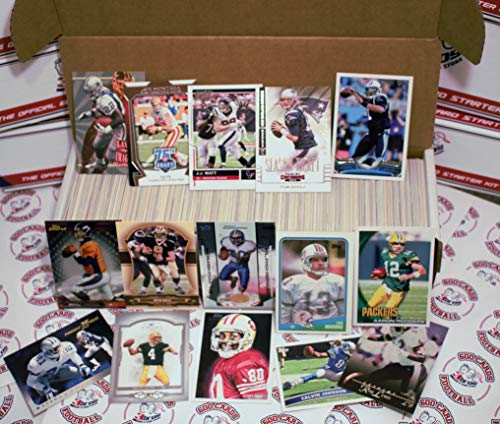 600 miscellaneous football cards from all brands ranging in years from 1980's to present starter kit. Each 600card lot is guaranteed to contain1 eachof the following superstars.Cam Newton,Tom Bra