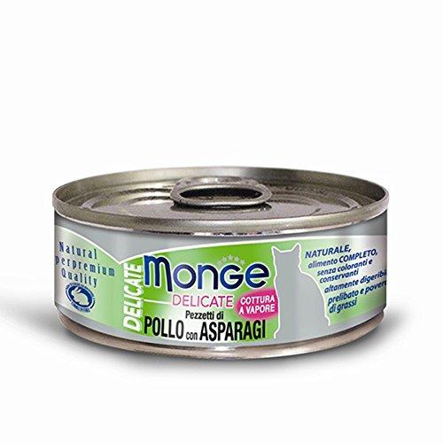 Monge Cat Delicate Pezzetti di Pollo con Asparagi 80 gr 1 Lattina