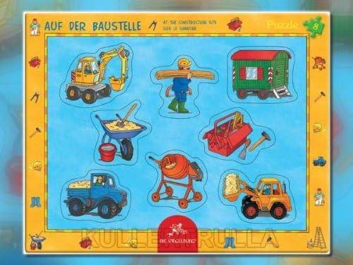 8 Teile Rahmenpuzzle: Auf der Baustelle 8 Teile Die Spiegelburg 20558