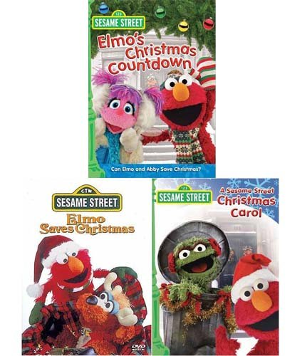 - Sesame Street Christmas Pack(Christmas Carol/Elmo Saves Christmas/Elmo's Christmas Countdown)(3Pack)