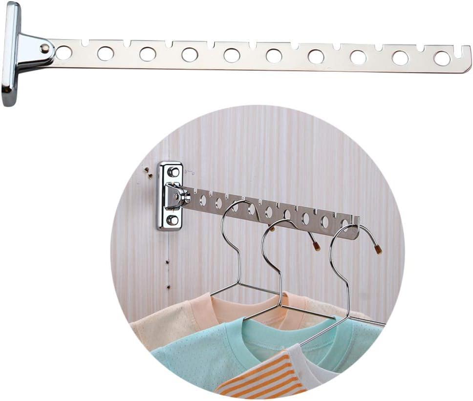 6 L/öcher STOBOK Wandhalterung Kleiderb/ügel Edelstahl Kleiderhaken mit Schwinge Armhalter Schrank Organisatoren Und Lagerung