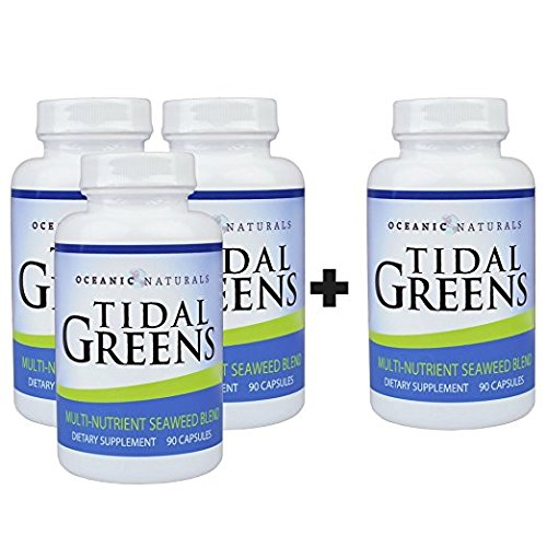 Tidal Greens Natural Seaweed Supplement (Buy 3 Get 1 Free) by Oceanic Naturals