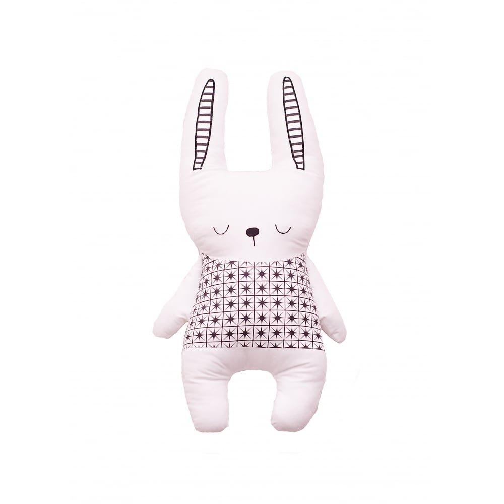 Bizzi Growin Little Dreamers Unique Black & White Rabbit Cushion/Pillow
