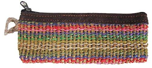 a2zgift4u Hippie Jute Pencil Case Makeup Bag Coin Purse/pouch/wallet Handmade ()