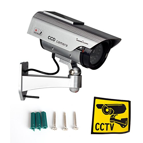 IHOMEGUARD Solar Dummy Surveillance Camera Fake Outdoor Indoor