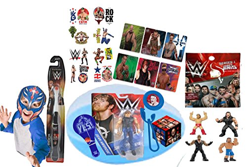 Wwe World Wrestling Entertainment Inspired Boys 15Pc Pre Filled Jumbo Easter Egg Gift Set  Includes Wwe Action Figure  Wwe Wrestling Blind Bag   Favors
