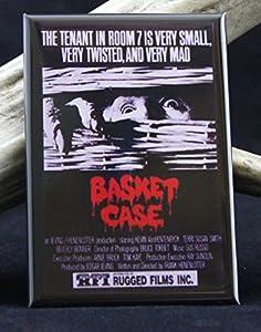 Basket Case Movie Poster Refrigerator Magnet.