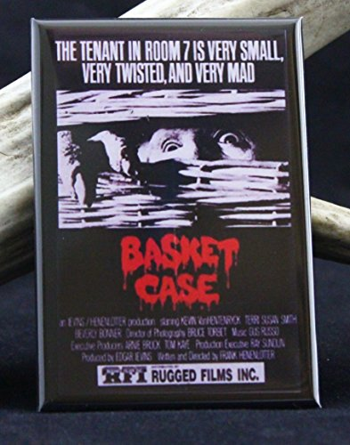 Basket Case Movie Poster Refrigerator Magnet.