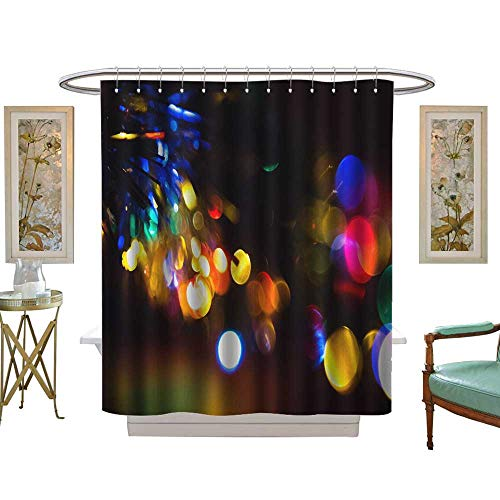 luvoluxhome Shower Curtains Fabric A Glorious Halo Background Bathroom Decor Set with Hooks W72 x L72