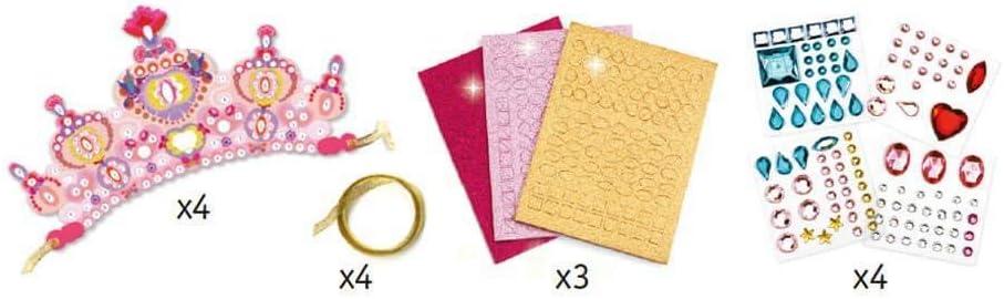 DJECO Like a Princess Mosaic Tiaras Craft Kit