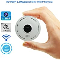 2017 New Designing 360 degrees View Angle HD960P VR Technology Mini WIFI IP Camera with Audio