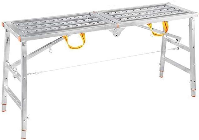 D Escaleras Extensibles Escalera De Plataforma Taburete Plegable para Caballos Aleación De Aluminio Andamio De Elevación Multifuncional Portátil (Tamaño : 180 * 40cm): Amazon.es: Hogar