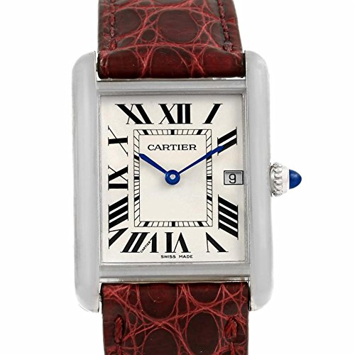 Cartier Tank Louis Cartier quartz mens Watch W1540956 (Certified Pre-owned)