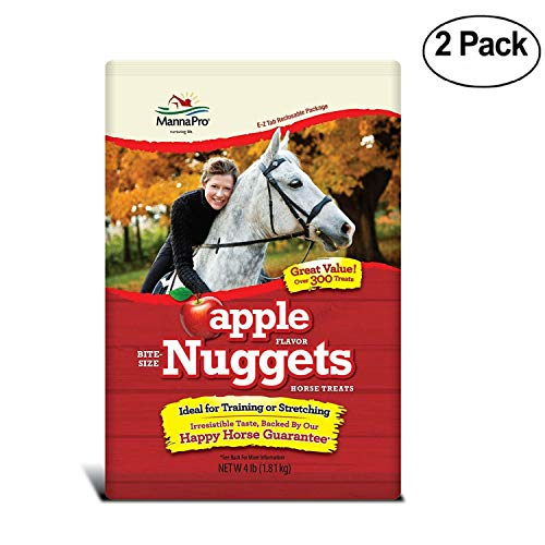 Nuggets Bite - Manna Pro Apple Bite Size Nuggets, 4 Lb - Pack Of 2