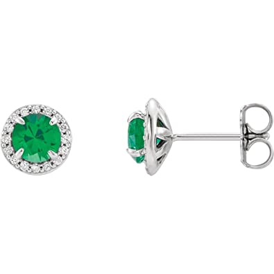 a4cc5162a Image Unavailable. Image not available for. Color: Lab-Created Emerald 14k  White Gold ...