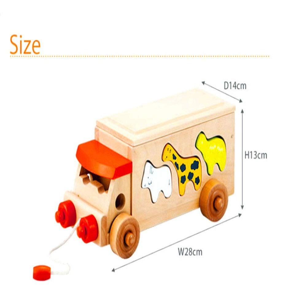 ZnMig Children 3-12 Years Old Bus Toy Hands-on Trailer Building Blocks Around The Bead Toy Building Blocks Children's Toys Early Education Puzzle Building Blocks Toys