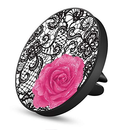 Black Lace Flower Magnetic Mount, Air Vent Magnetic Car Mount Phone Holder, for Cell Phones and Mini Tablets with Fast Swift-Snap Technology