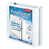 Cardinal FreeStand ClearVue Easy Open Locking Slant-D Ring Binder, 2-Inch, White (43120)