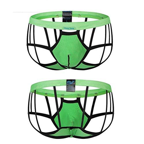 Hueco 3 Fino 12 Piezas Xl Ropa Ultra Respirable Masculina Sexy Pantalones Net Interior Yarn PP8wrq6