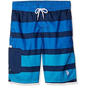 U.S. Polo Assn. Men's Stripe Swim Short