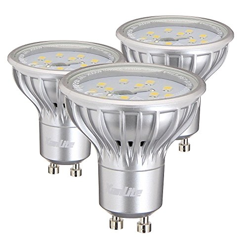 Xanlite PACK3EG280S Lot de 3 Ampoules Dichroïque 280S Lumens 4,5 W GU10 Gris