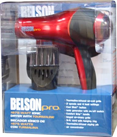 Amazon.com: Belson Pro 1875W Ionic Tourmaline Dryer: Beauty
