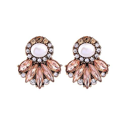 Statement Earrings New Fashion Simulated Pearl Crystal Geometric Stud Earrings Women Jewelry - Marina And The Diamonds Emoji Costume
